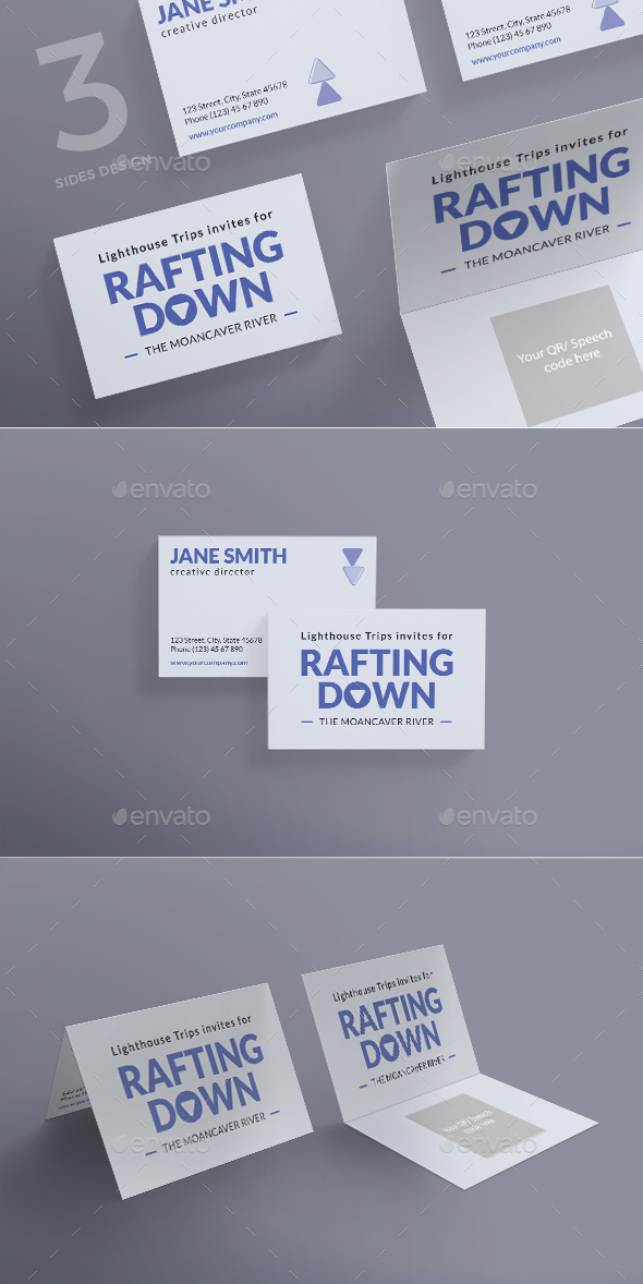 Rafting Business Card - Business Cards Print Templates