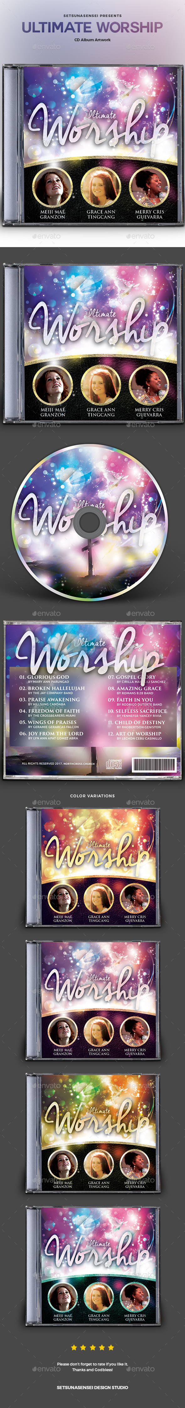 Ultimate Worship CD Album Artwork - CD & DVD Artwork Print Templates