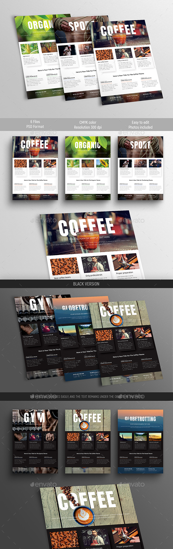 Design of universal flyer templates - Flyers Print Templates