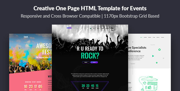 Event — Creative and Modern One Page HTML Template for Events