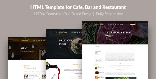 GoFood — HTML Template for Cafe, Bar and Restaurant - Food Retail
