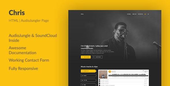 Chris — HTML Portfolio For an AudioJungle Author - Portfolio Creative