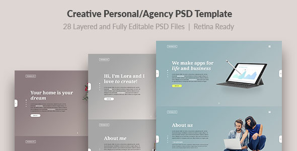 Trend — Modern and Creative Personal/Agency PSD Template - Creative PSD Templates