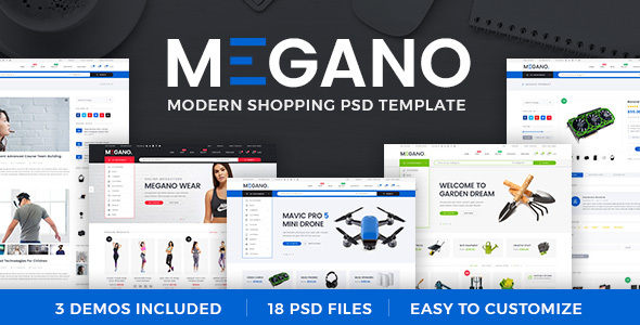 Megano - Online Store PSD Template - Retail PSD Templates