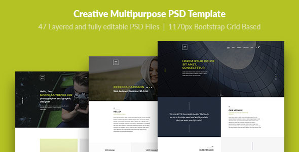 TheMY — Creative Multipurpose PSD Template - Creative PSD Templates