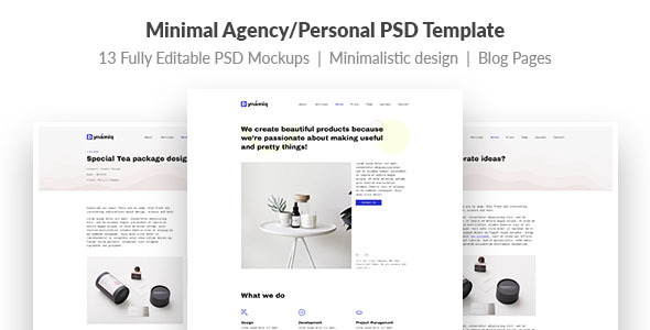 Dynamiq — Minimal and Creative Multipurpose Agency/Personal PSD Template - Creative PSD Templates