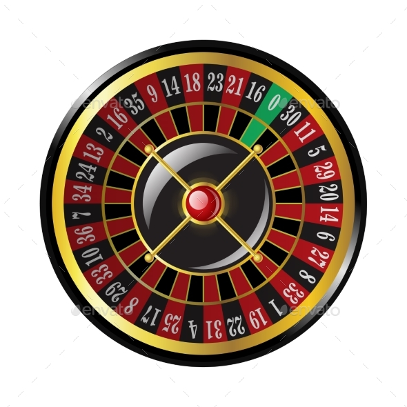 Casino Roulette - Modern Vector Isolated Clip Art - Man-made Objects Objects