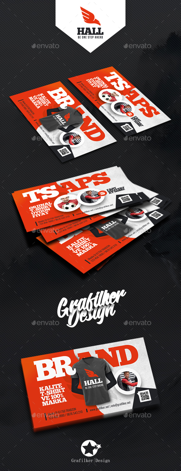 GraphicRiver T-Shirt Shop Business Card Templates 20625528