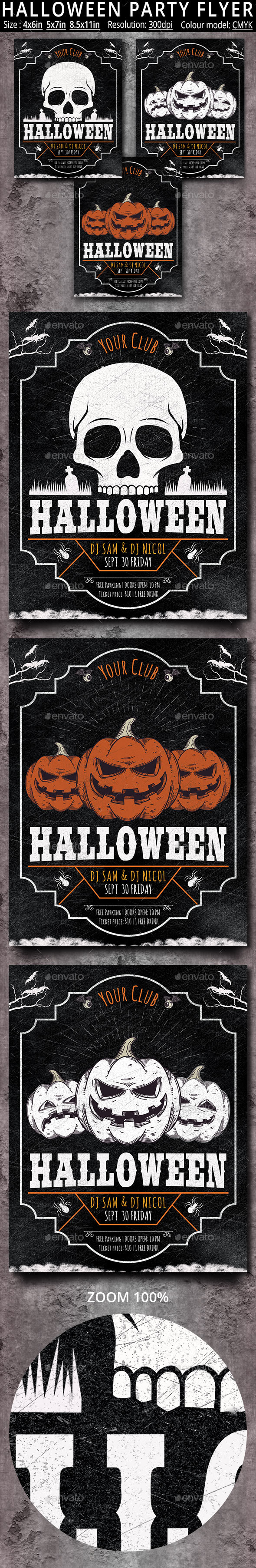 Halloween Party Flyer Poster - Holidays Events