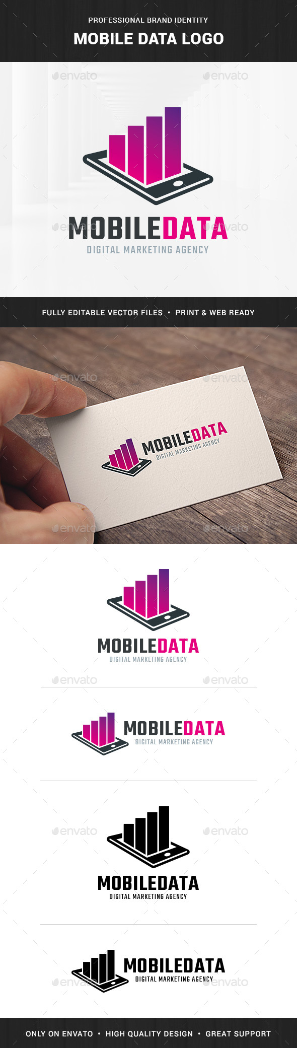 Mobile Data Logo Template - Objects Logo Templates