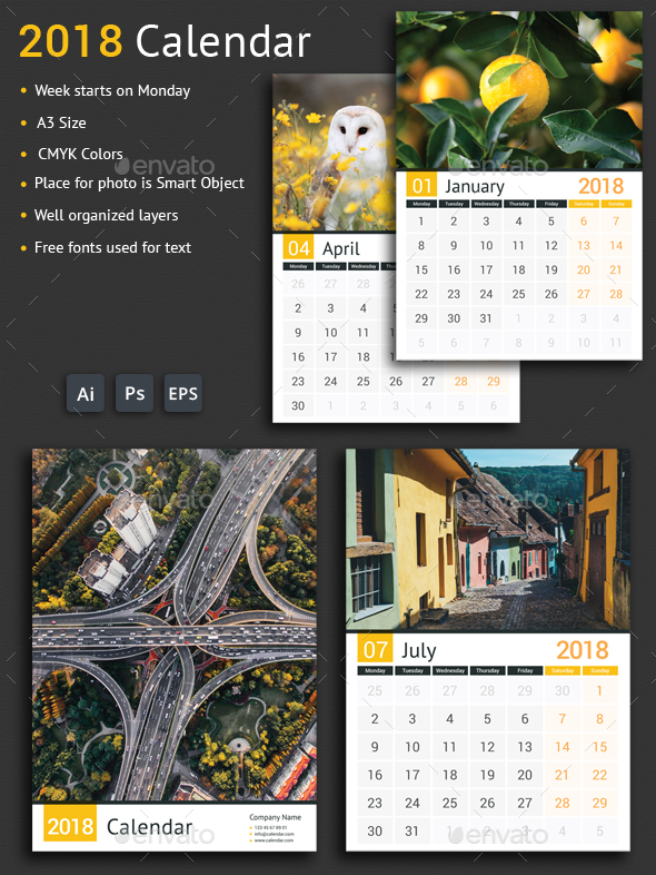 GraphicRiver 2018 Calendar 20625826
