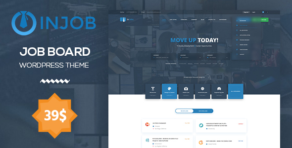 ThemeForest Job Board WordPress Theme InJob 20322987