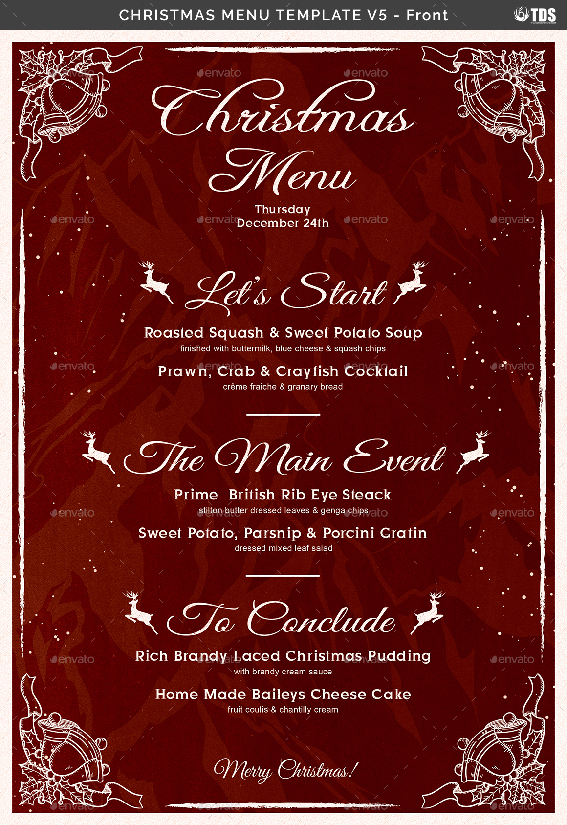 Christmas Menu Template V5 By Lou606 Graphicriver