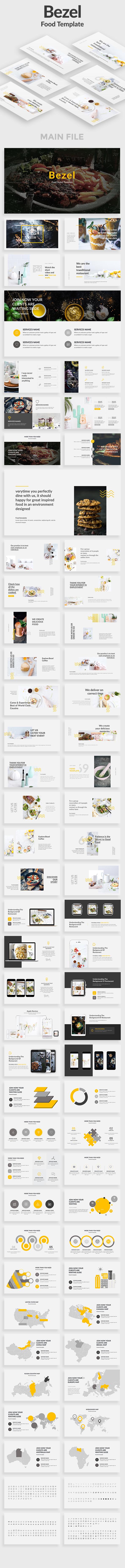 Bezel Food Powerpoint Template - Creative PowerPoint Templates