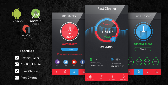 CodeCanyon Fast Cleaner & Battery Saver with Admob Ads 20549858