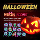 Halloween Icons with Sparkles - GraphicRiver Item for Sale