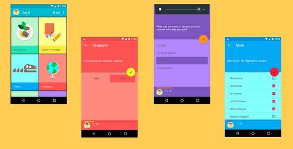 Quiz App (Pure Material Design)