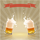 Pint of Beer with Splashing Foam - GraphicRiver Item for Sale