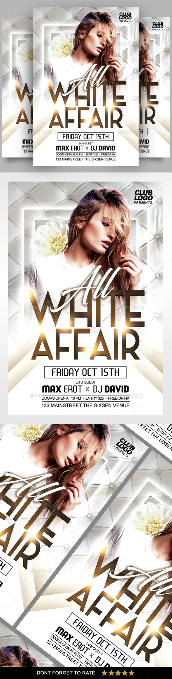 White Affair Flyer - Clubs & Parties Events