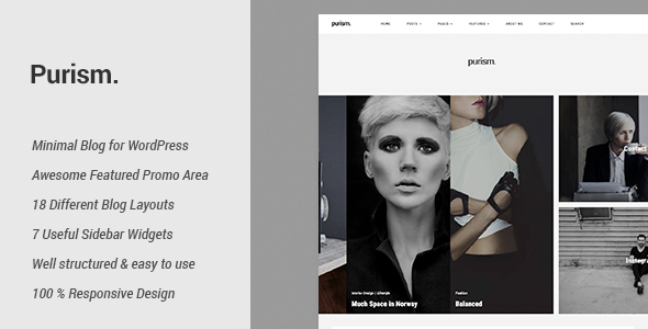 Purism - WordPress Blog Theme - Personal Blog / Magazine