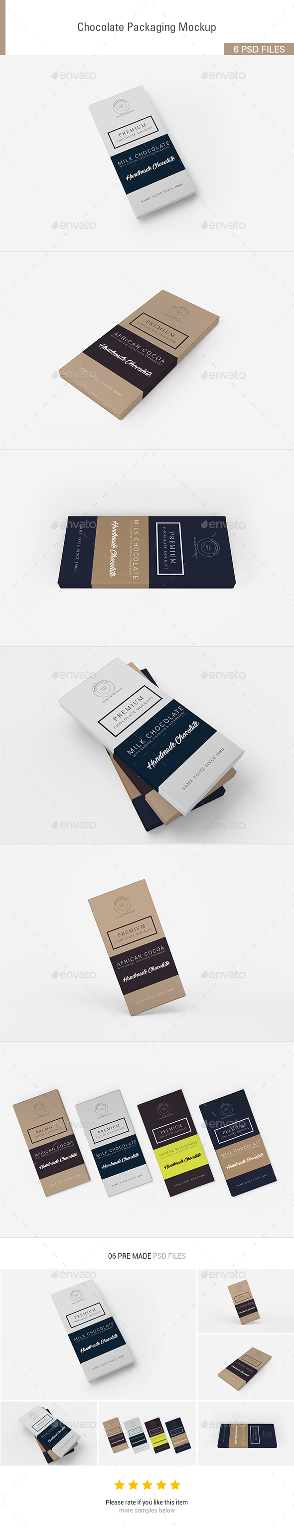 GraphicRiver Chocolate Packaging Mockups 20626427