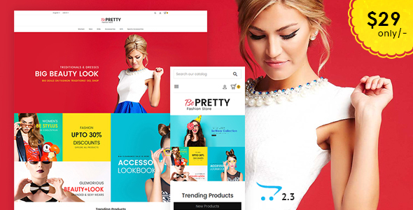 BePRETTY - Opencart 3 Multi-Purpose Responsive Theme