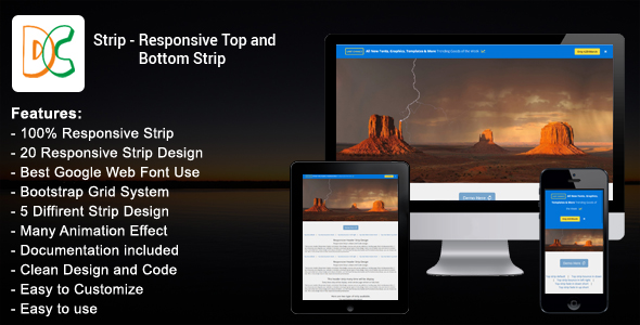 Strip - Responsive Top & Bottom Strip - CodeCanyon Item for Sale