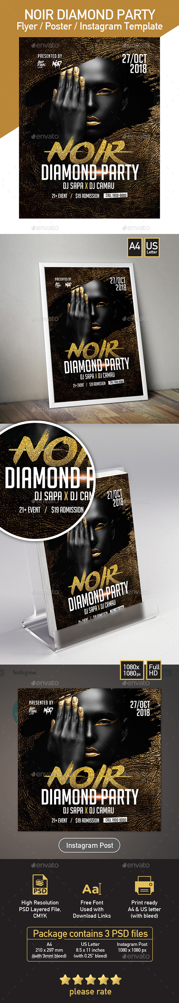 Party Template for Noir Diamond - Clubs & Parties Events