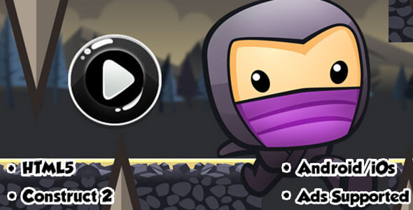 CodeCanyon Incredible Ninja HTML5 Game CAPX 20626564