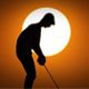 Male Caucasian Golfer In Sunset Silhouette - VideoHive Item for Sale
