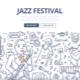 Jazz Festival Doodle Concept