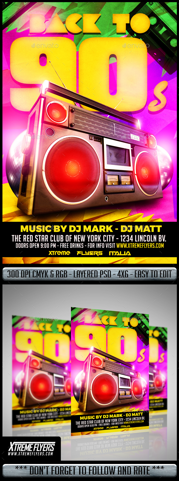 Disco 90s Flyer - Clubs & Parties Events