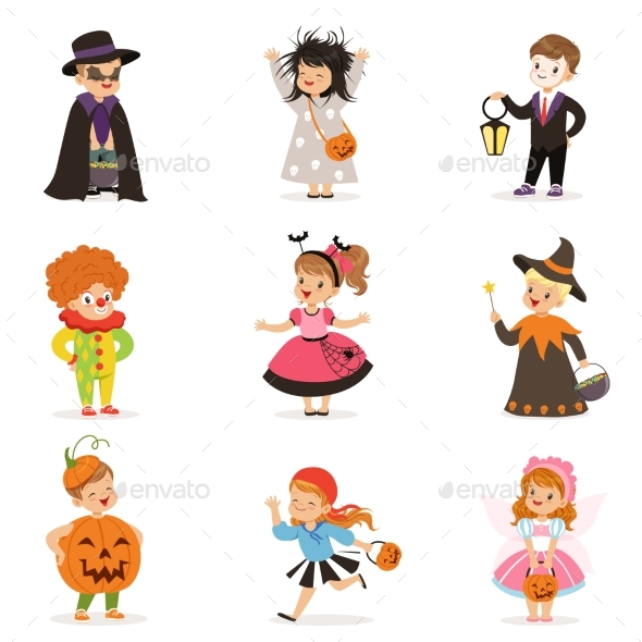 GraphicRiver Kids in Different Colorful 20627316
