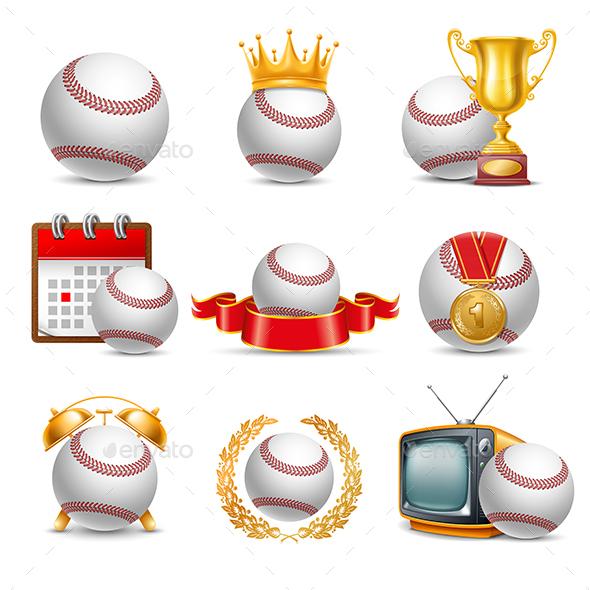 GraphicRiver Baseball set 20627660