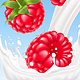 Raspberry in Milk Splash