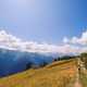 Woman hiking in mountains and meadows of Svaneti national park, Georgia - PhotoDune Item for Sale