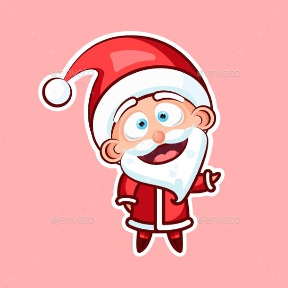 Sticker Emoji Emoticon, Emotion, Hi, Hello, Waving - Christmas Seasons/Holidays