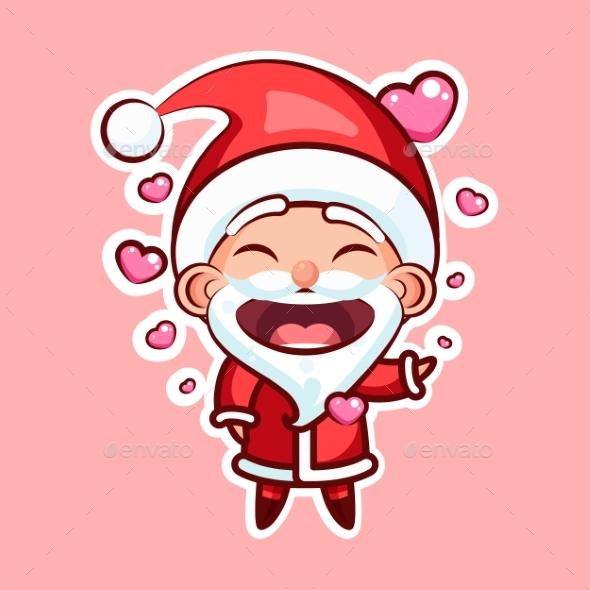 Sticker Emoji Emoticon, Emotion, Vector Isolated - Christmas Seasons/Holidays