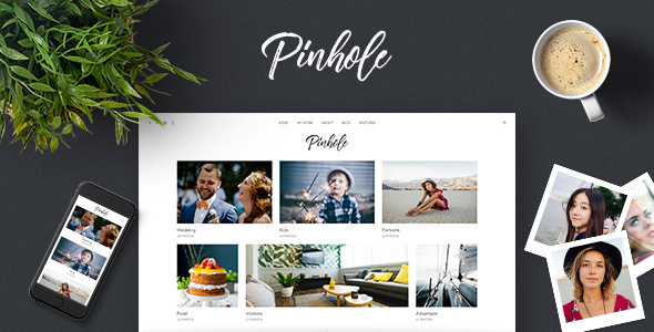 pinhole - wordpress gallery theme for photographers (photography) Pinhole – WordPress Gallery Theme for Photographers (Photography) screenshot