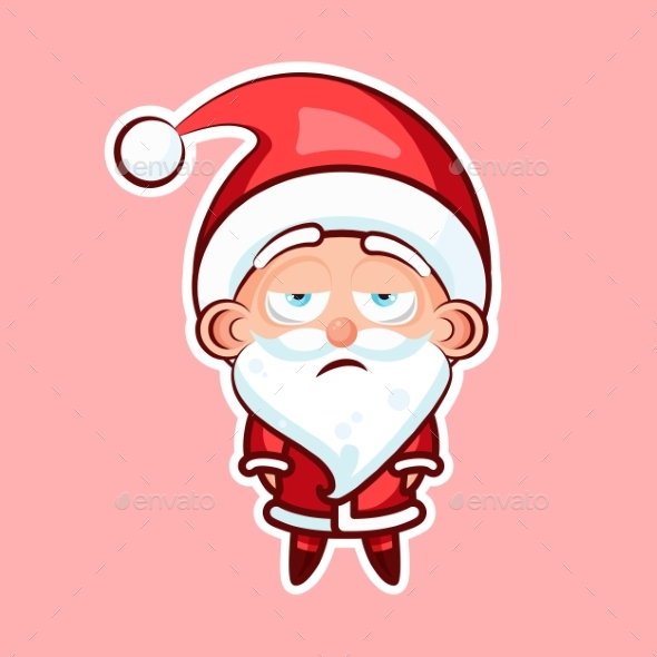 Sticker Emoji Emoticon, Emotion, Boredom - Christmas Seasons/Holidays
