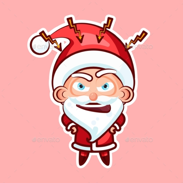 Sticker Emoji Emoticon, Emotion Swear, Angry - Christmas Seasons/Holidays