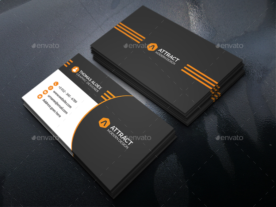 Modern business card by aleepixel graphicriver modern business card colourmoves
