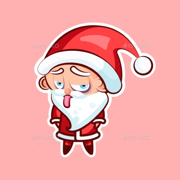 Sticker Emoji Emoticon Emotion Show Tongue  - Christmas Seasons/Holidays