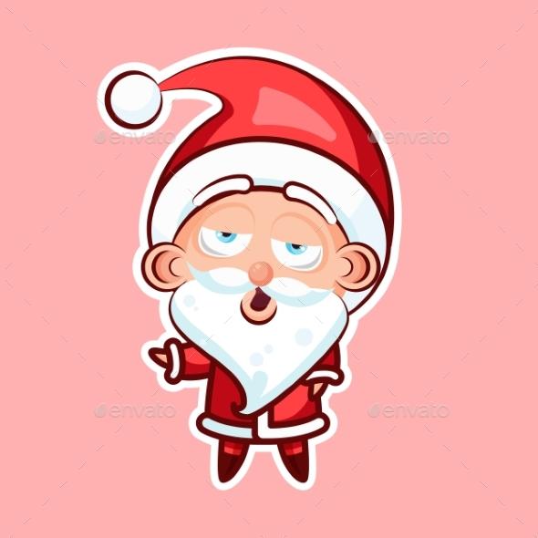 Sticker Emoji Emoticon, Emotion, Yawn, Gape Vector - Christmas Seasons/Holidays