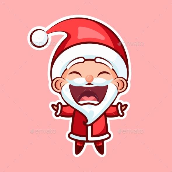 Sticker Emoji Emoticon, Emotion Joy, Shouting - Christmas Seasons/Holidays