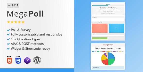 MegaPoll: Wordpress Poll and Survey Builder Plugin - CodeCanyon Item for Sale