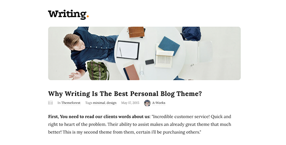 Writing Blog - Personal Blog