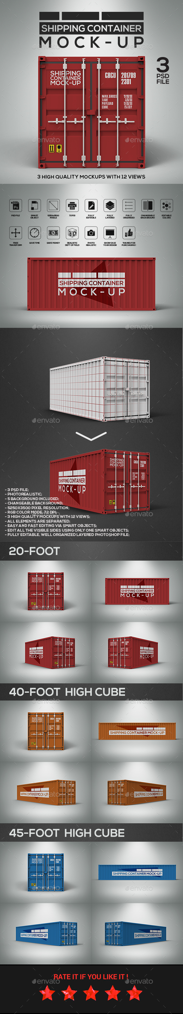 Shipping Container Mockup - Miscellaneous Packaging