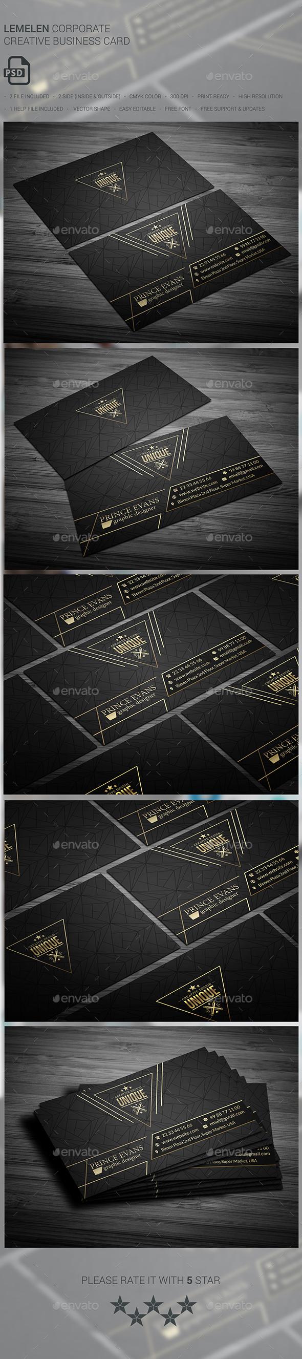 GraphicRiver Enorise Elegant Business Card 20628209