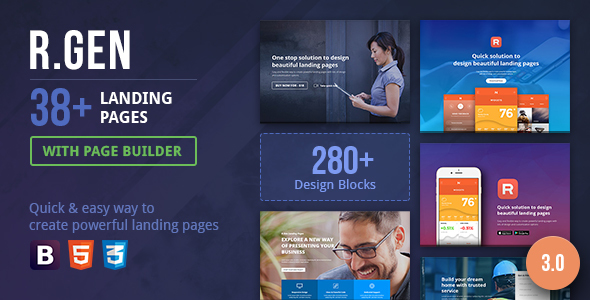 RGen Landing Page with Page Builder - Landing Pages Marketing